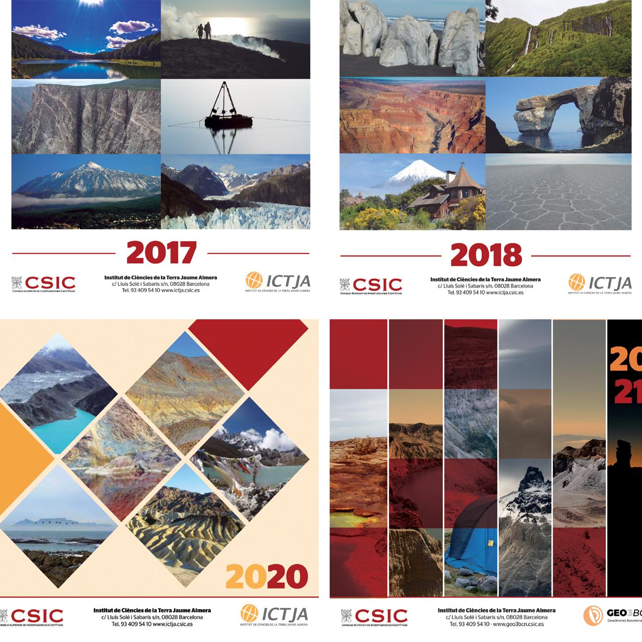 Calendaris Institut Jaume Almera – CSIC