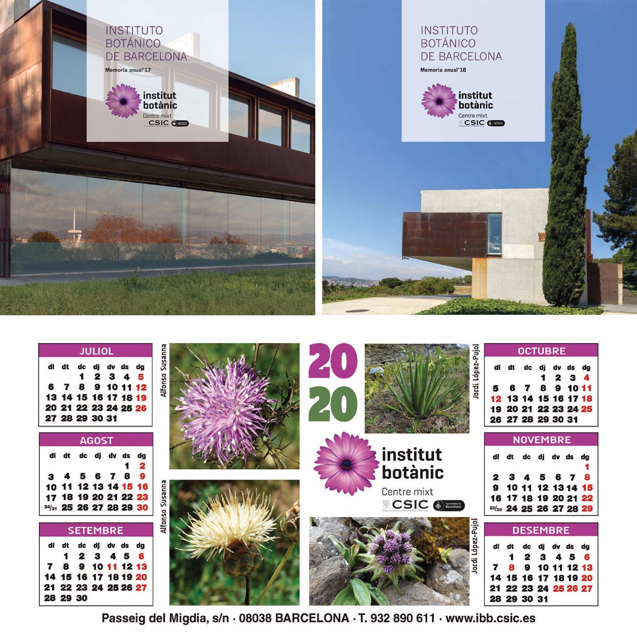 IBB – CSIC Memòries i calendaris